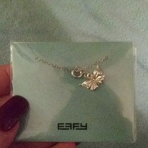 New effy butterfly pendant necklace